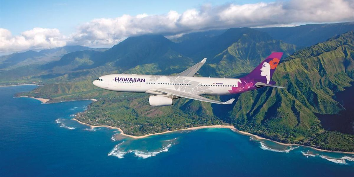 Hawaiian Airlines has a new look for its logo, airplanes