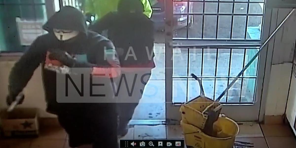 Horrifying holdup: Three armed, masked men rob Waianae mini-mart