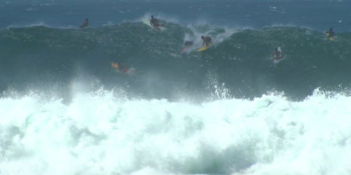 High Surf Advisory in effect due to east swell, trade winds