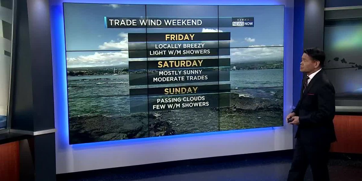 Forecast: Mostly dry trade wind conditions into the weekend
