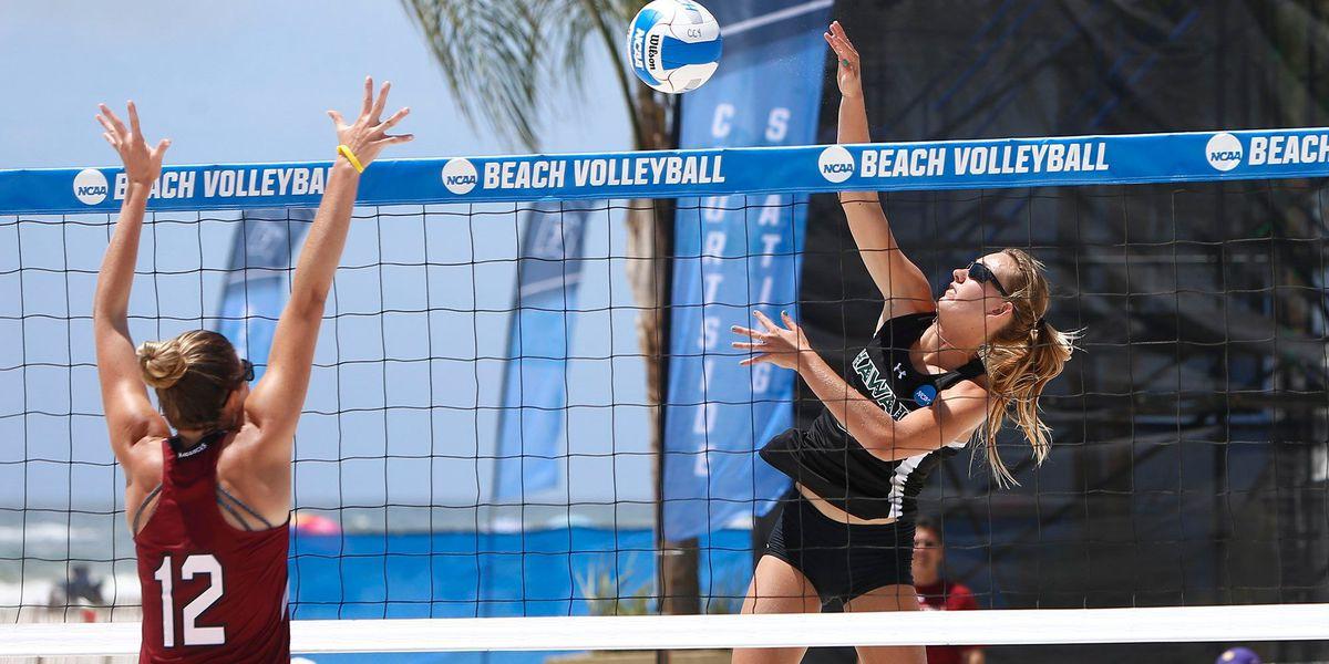 Go 'Bows! Hawaii defeats South Carolina in NCAA Beach Volleyball Championship opener