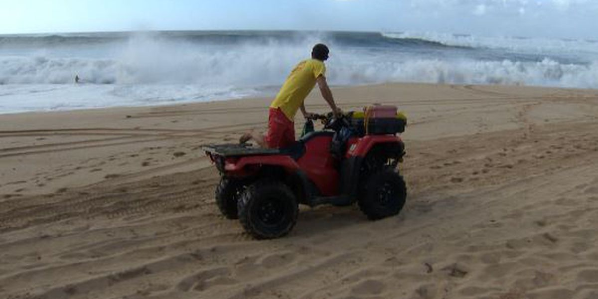 Monster surf keeps lifeguards busy with rescues, warnings