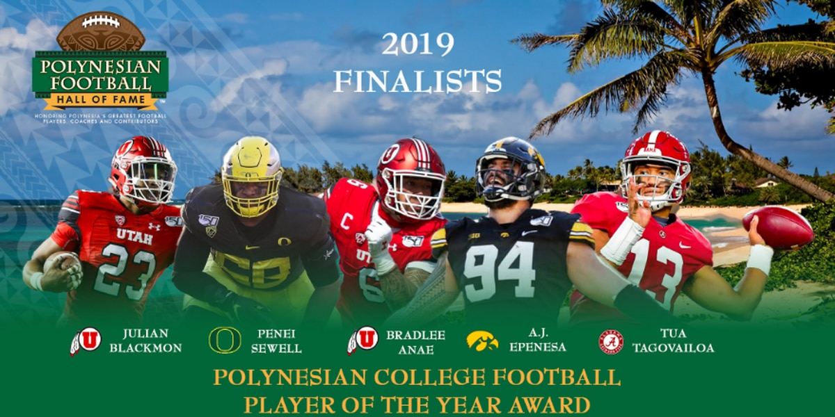 2019 Polynesian College Football Player of the Year Award finalists announced