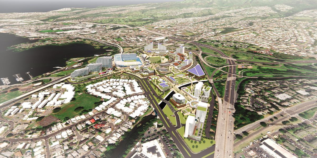 State takes first steps toward redeveloping property around new Aloha Stadium