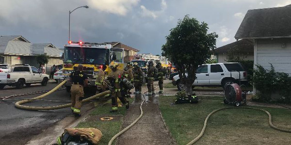 Police make an arrest in an arson investigation after Kapolei house fire