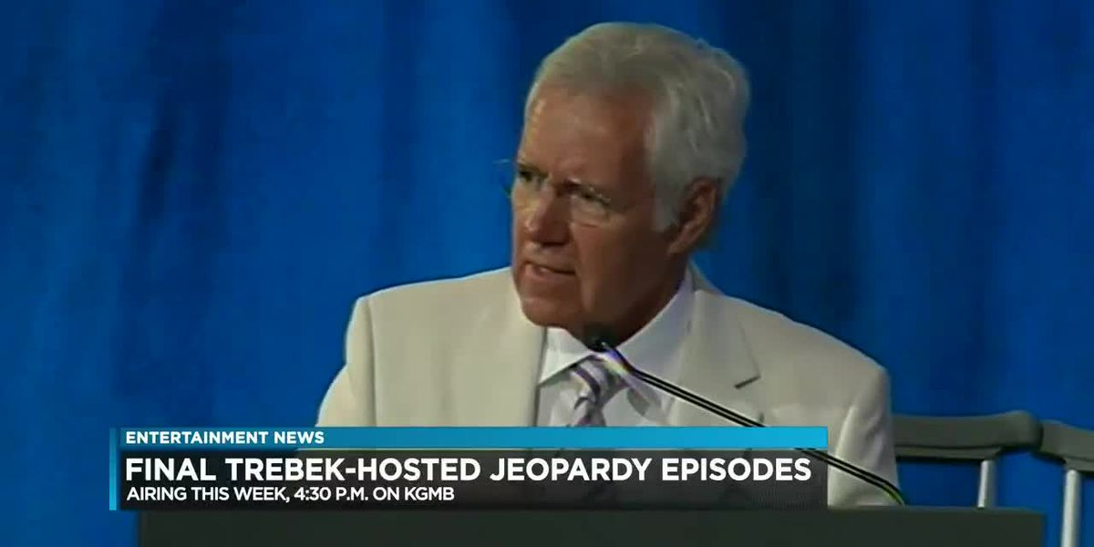 Entertainment: Final episodes of 'Jeopardy' with late Alex Trebek to air this week
