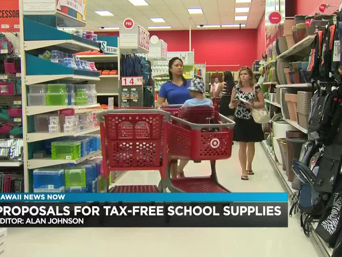 16 states are hosting tax-free shopping on school supplies. Should Hawaii be next?