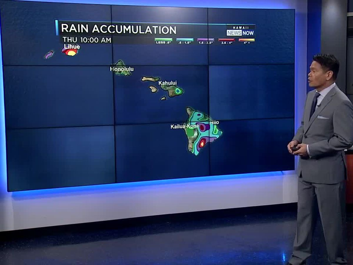 Forecast: Flooding still possible for Kauai, but rain easing up elsewhere
