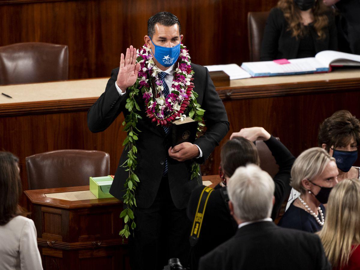Kai Kahele sworn in as second Native Hawaiian in Congress since statehood