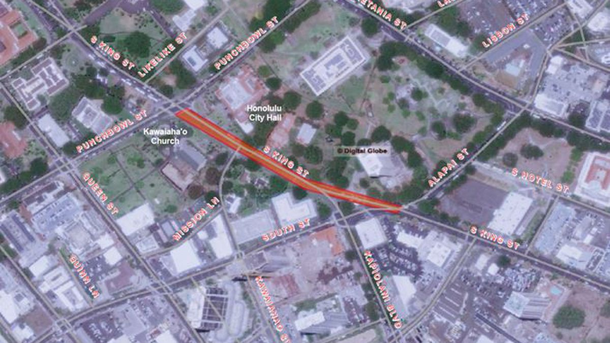 A portion of King St. to partially close on Saturdays for road work