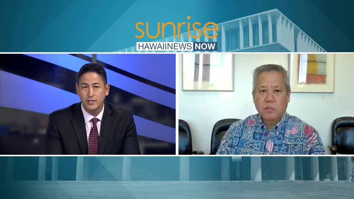 House Speaker Scott Saiki explains plans to get more money for state's unemployed