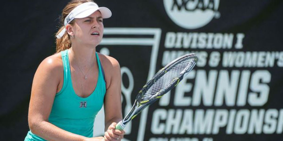 Melounova defeats Michigan's Lommer, advances to NCAA Women's Singles Championships Round of 16