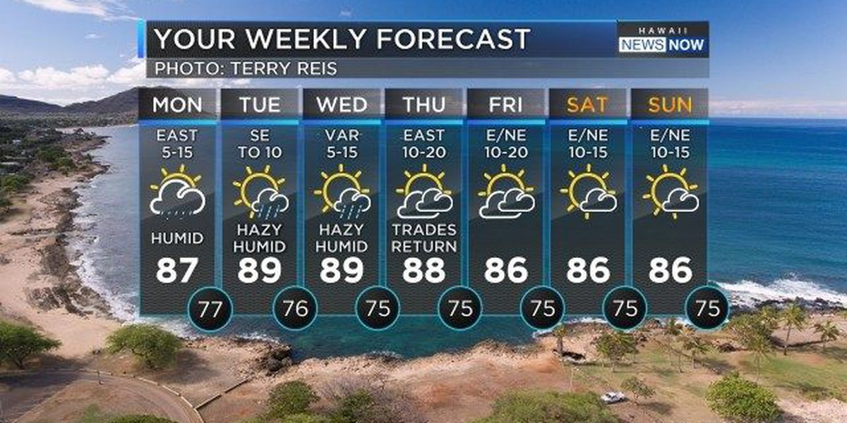 Forecast: Showers, muggy conditions to start the week