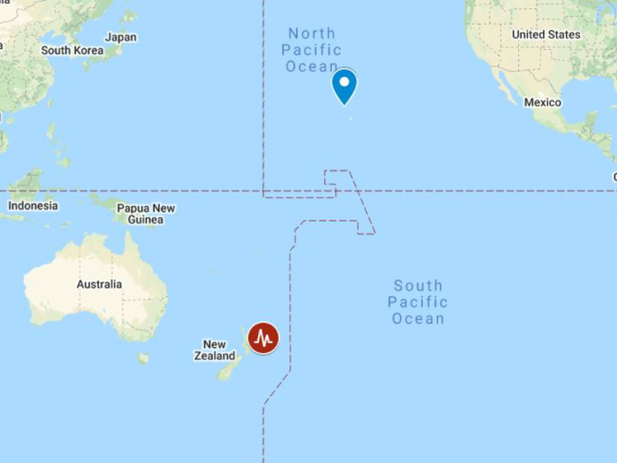 No tsunami threat to Hawaii following strong earthquake off New Zealand
