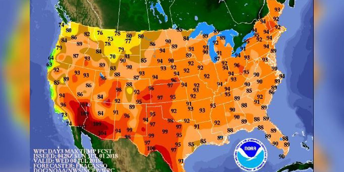Heat dome brings dangerously high temps, humidity to most of US