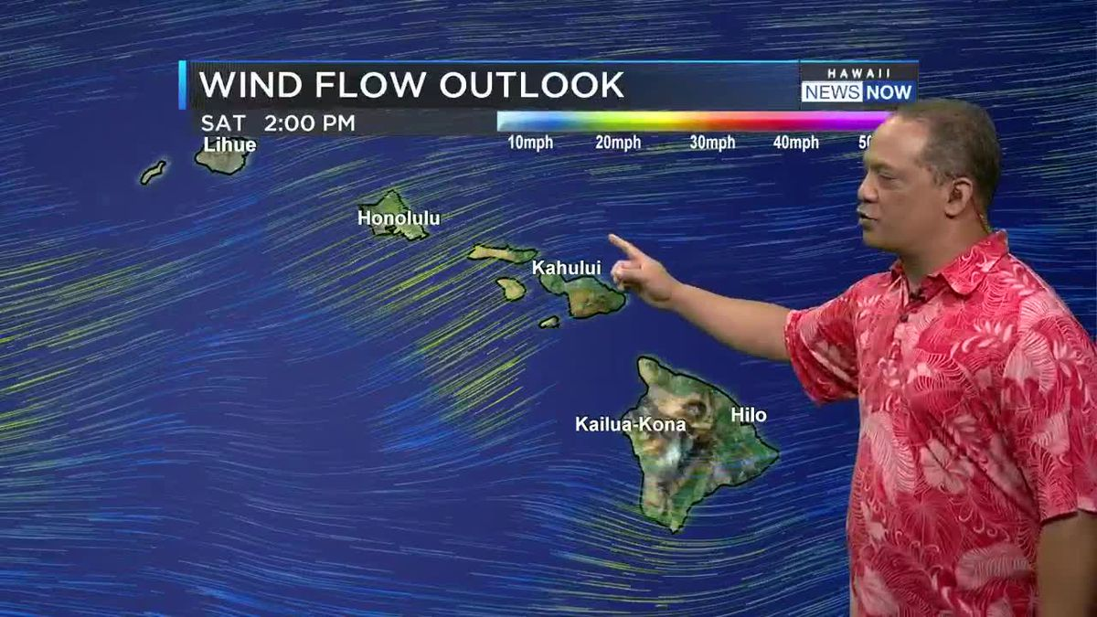 Hot summer time weather for the Hawaiian Islands continues