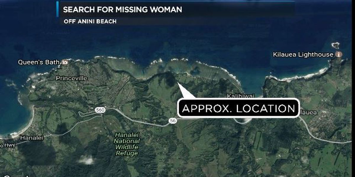 Search called off for missing woman off Kauai's Anini Beach