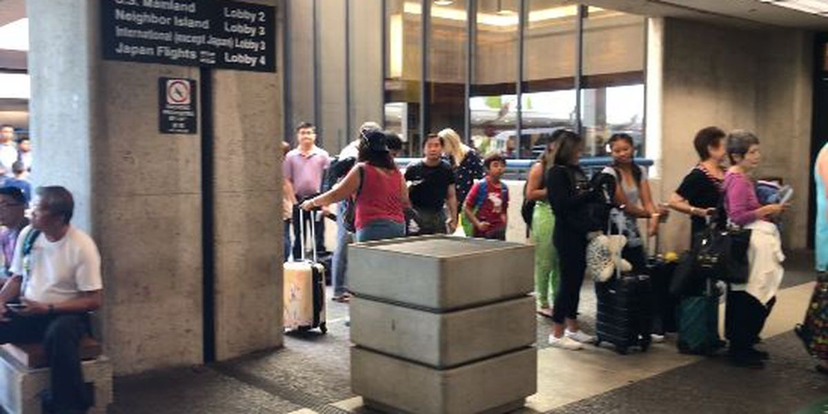 Faulty transmission line blamed for power outage at Honolulu's airport