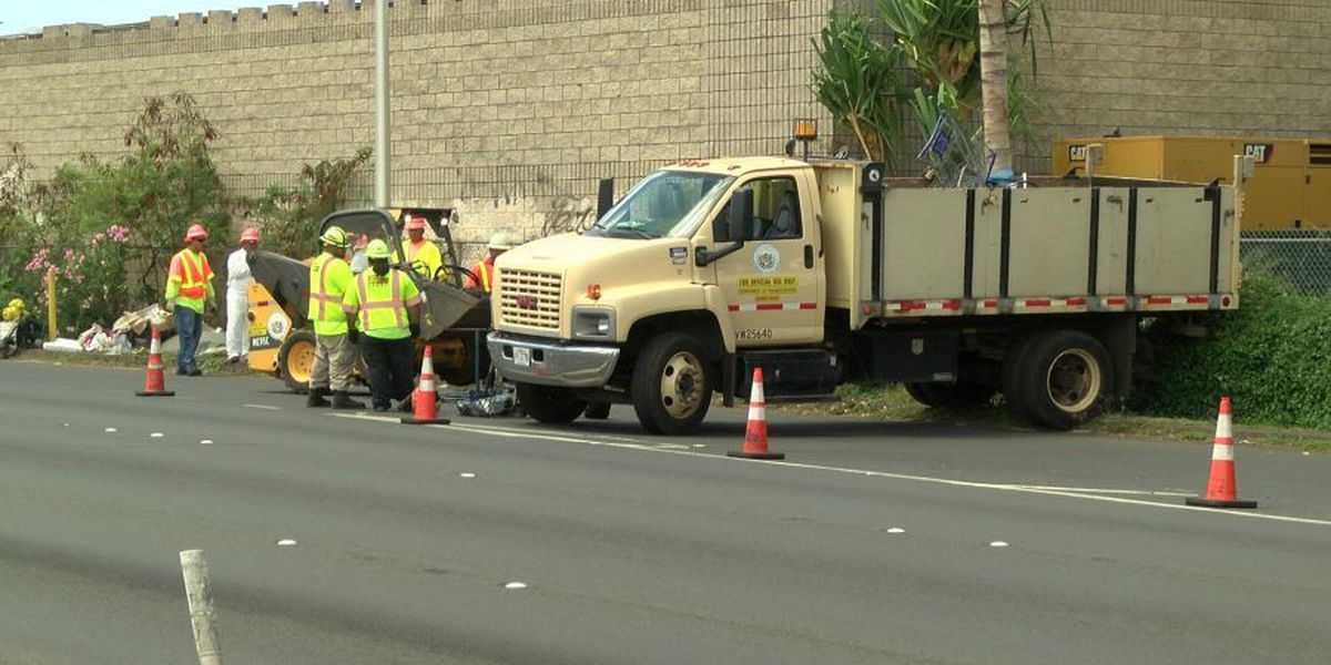 Sweep clears homeless from Nimitz Hwy.