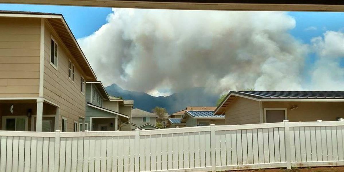 Controlled burn at Schofield sends smoke, ash to Leeward areas