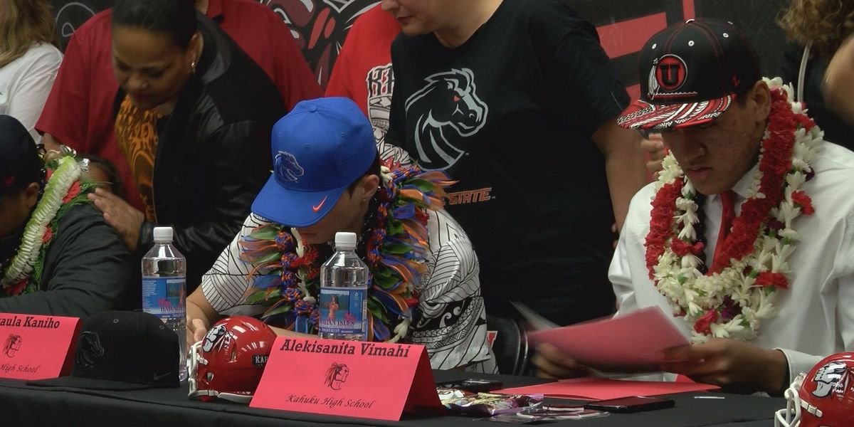 Hawaii's top prospects are Mainland bound after NLI Signing Day
