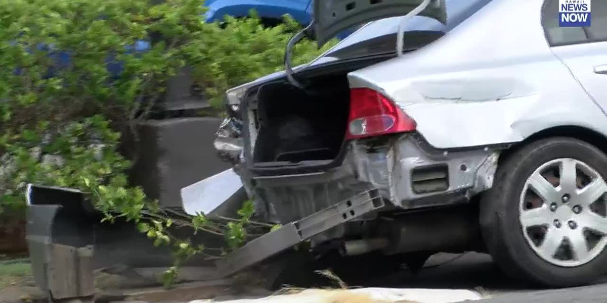 Kalanianaole Highway closed in Waimanalo due to a motor vehicle accident