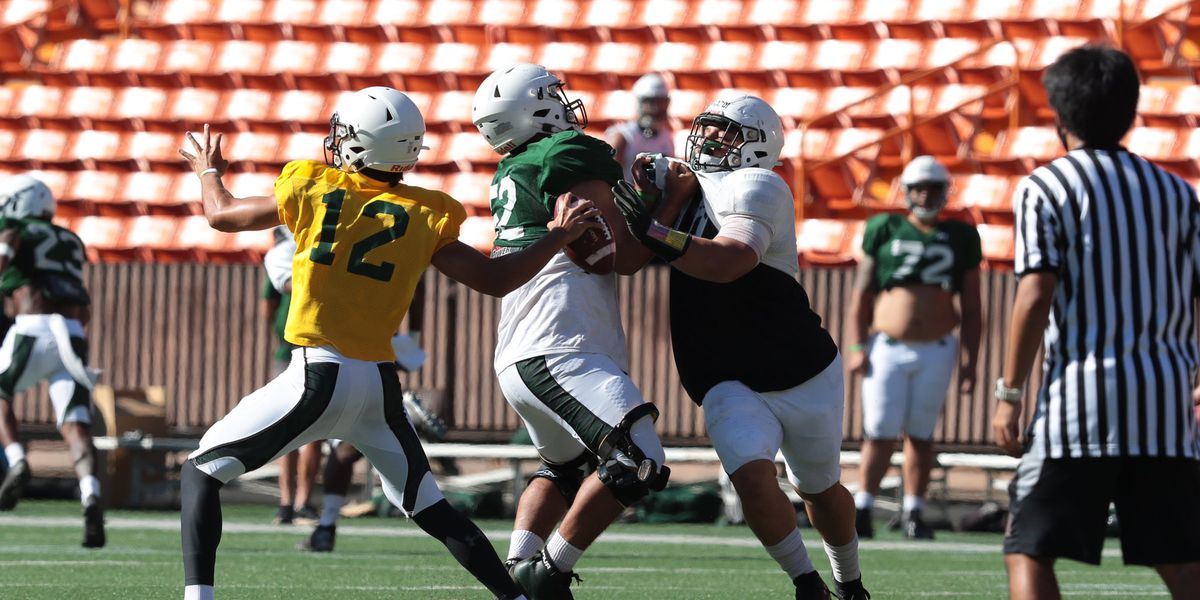 UH football finishes training camp with a scrimmage at an empty Aloha Stadium