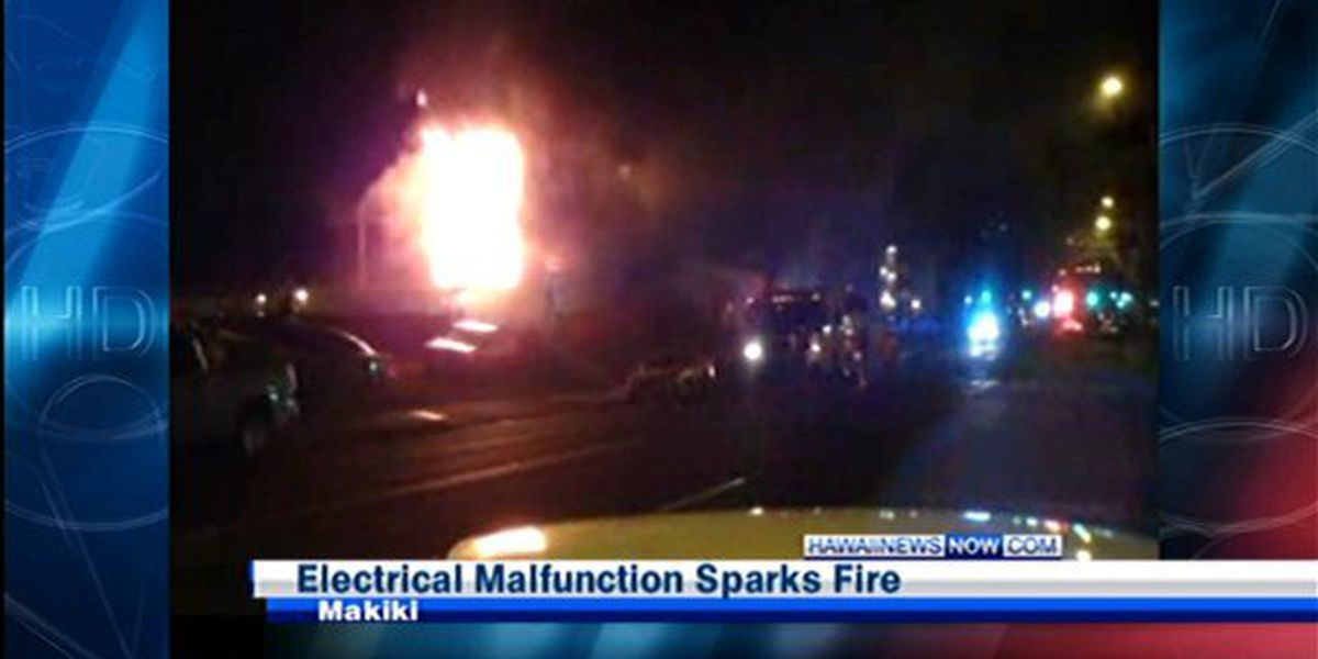 Officials: Makiki apartment fire caused by faulty wiring