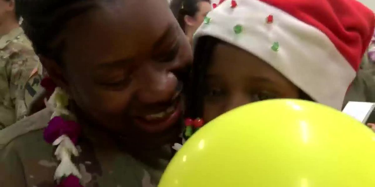 'Best Christmas present': Hawaii soldiers return home early from Middle East deployment