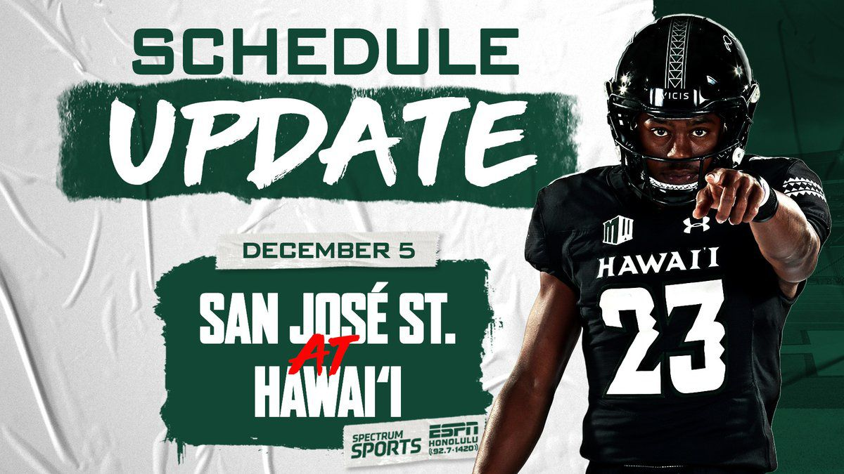 Pandemic restrictions force 'Bows game against San Jose St. back to Aloha Stadium