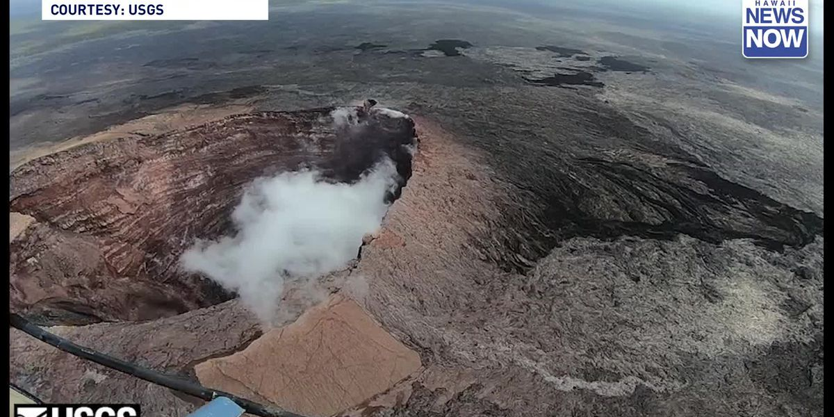 Rockfalls have decreased depth of Halemaumau Crater by 230 feet