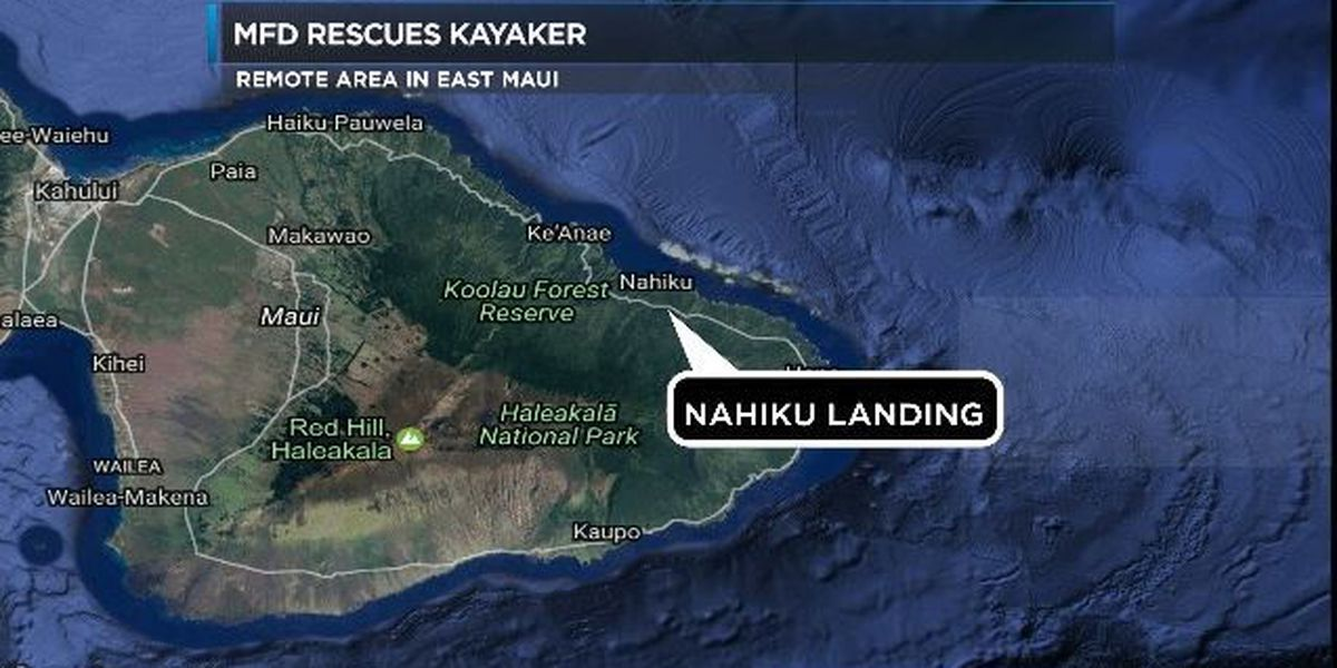 MFD rescues kayaker in remote area of East Maui