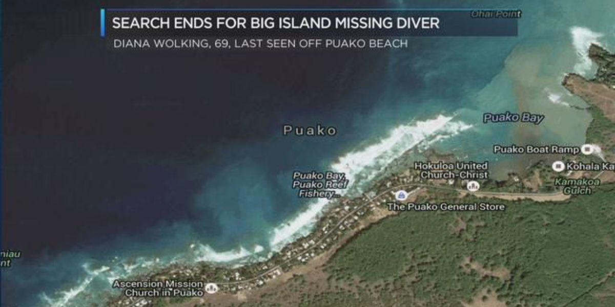 Search efforts end for missing Big Island diver
