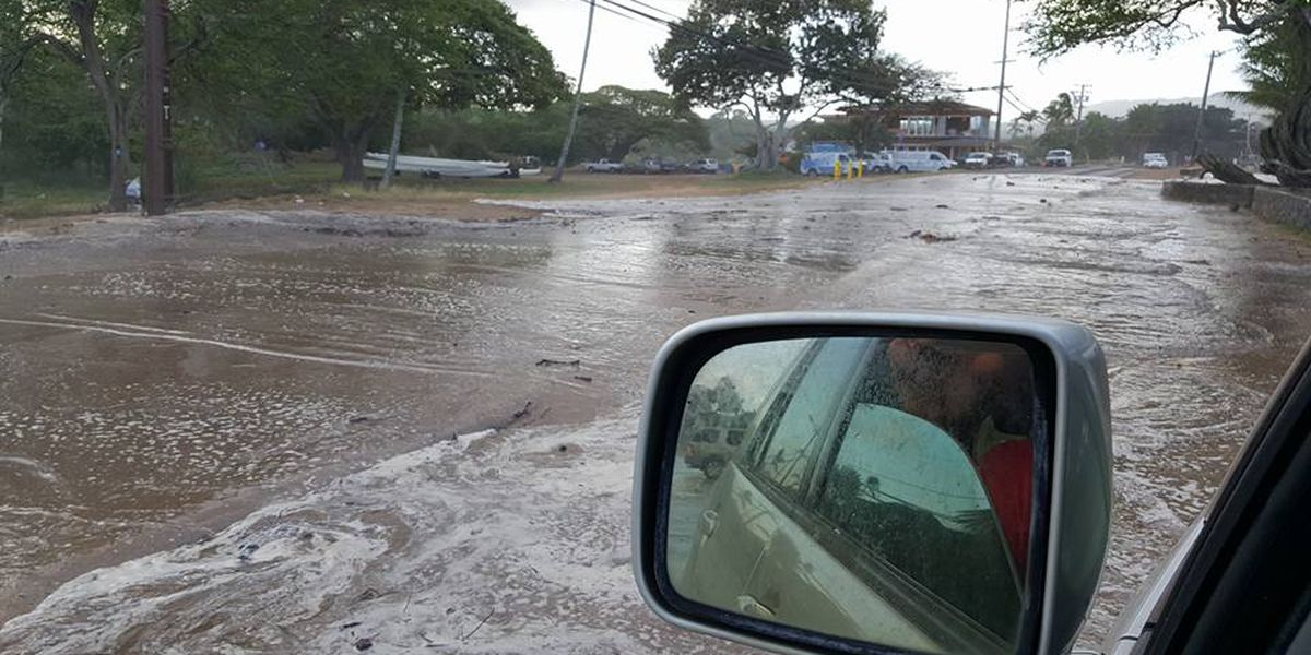Kamehameha Hwy. through North Shore reopens as surf subsides