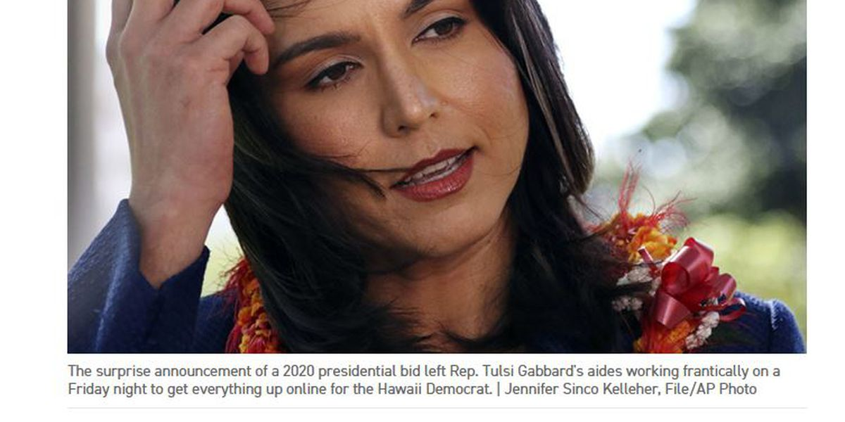 Gabbard denies her presidential campaign is in 'disarray' after online report