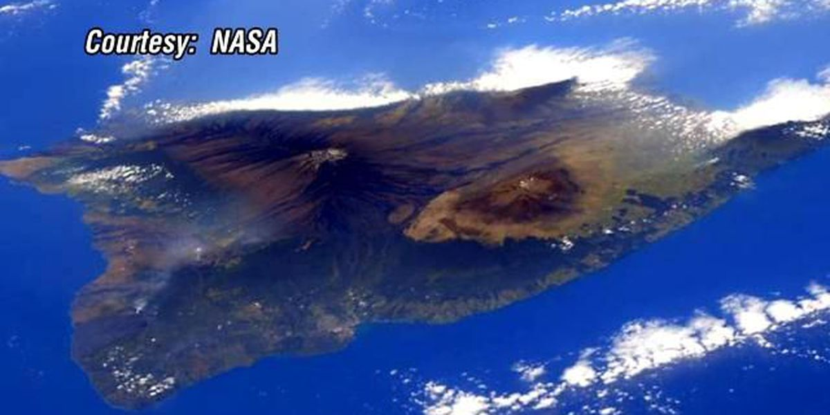 Astronaut captures photo of Big Island from International Space Station