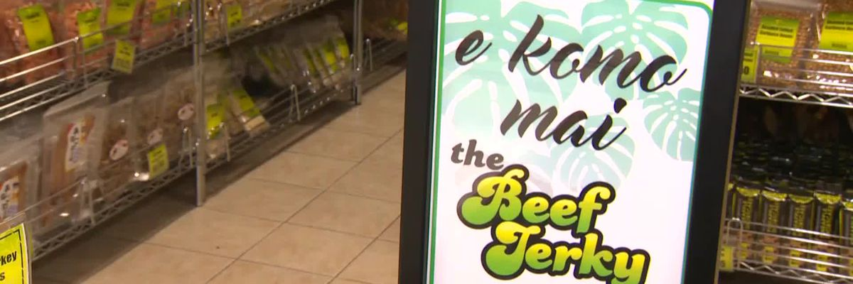 Visitors stop off at Beef Jerky Store in Las Vegas for omiyage