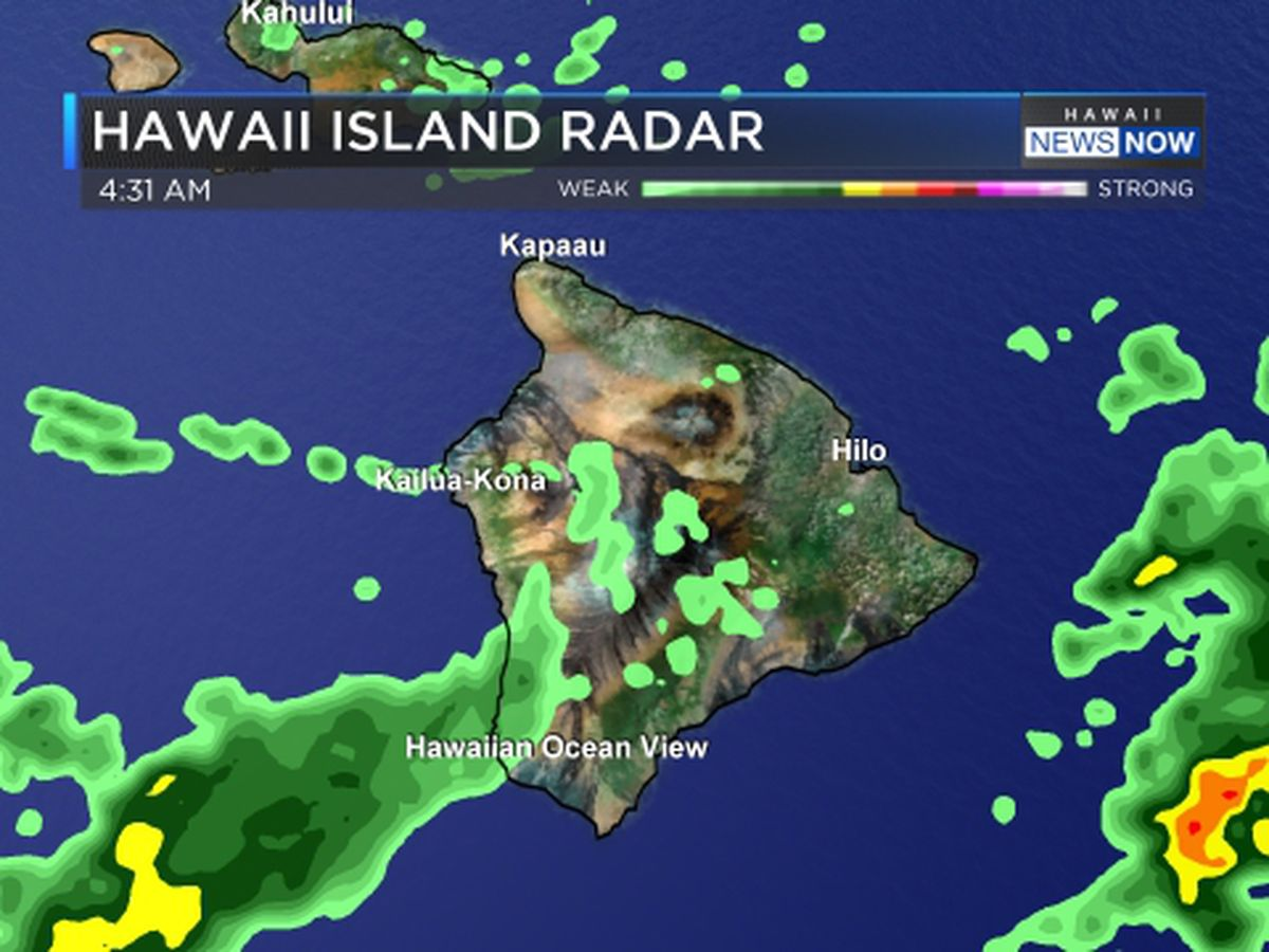 Flash flood watch posted for Maui County, Big Island