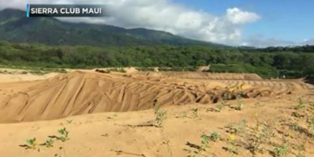 Native Hawaiian group sues Maui county official over sand mining