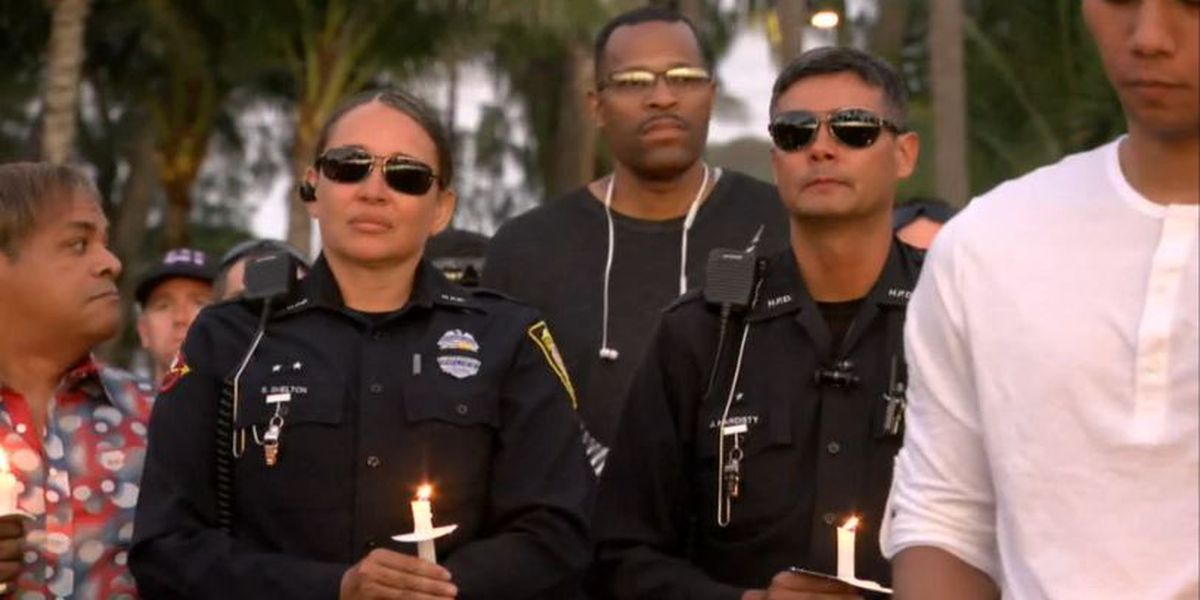 PHOTOS: Memorials, tributes to the 2 fallen officers killed near Diamond Head