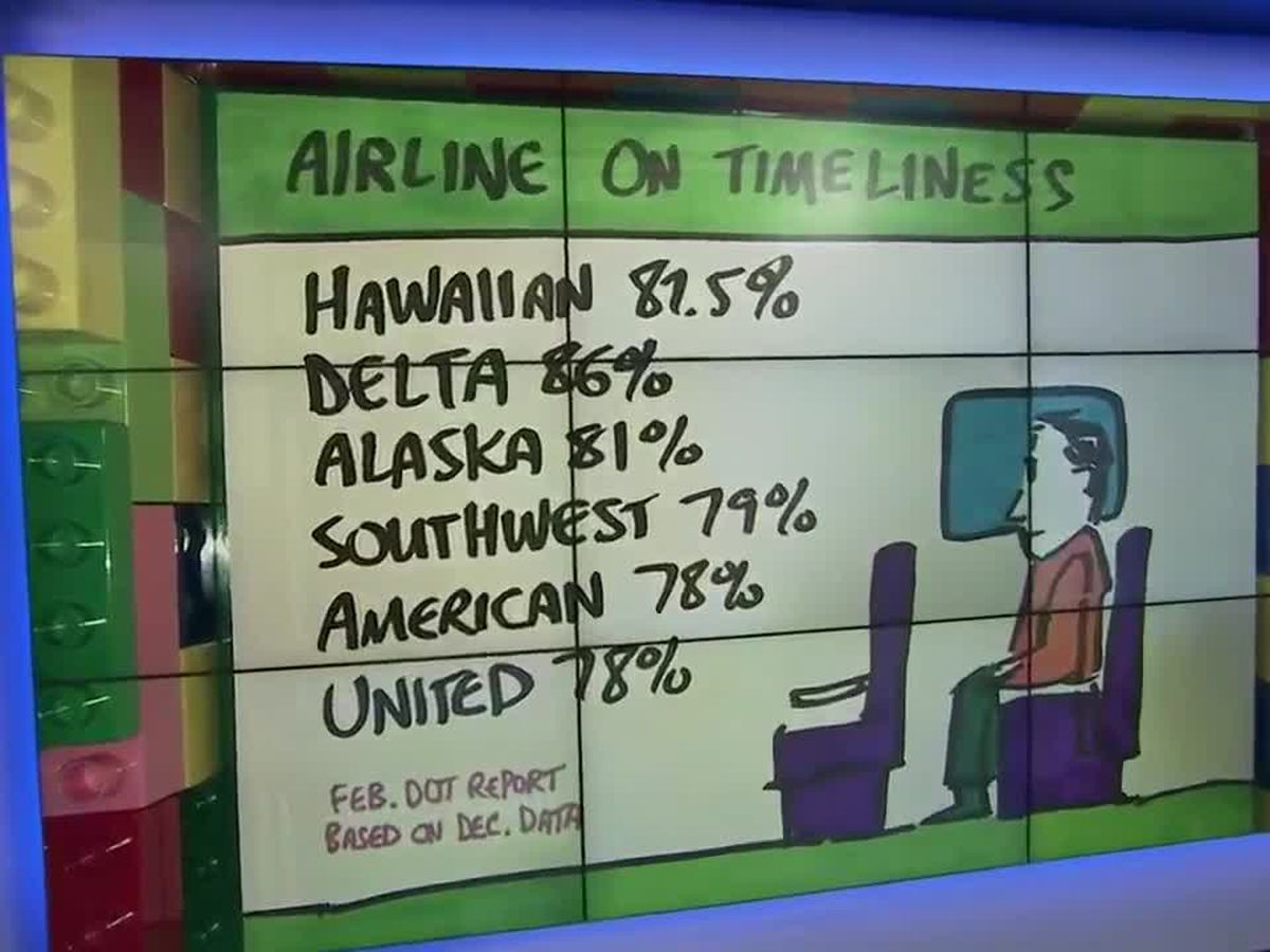 Business Report: A look at airline on-time records