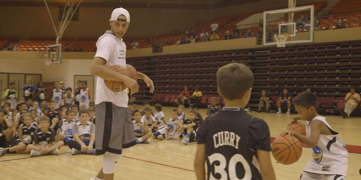 NBA MVP Curry holds camp at BYU-Hawaii
