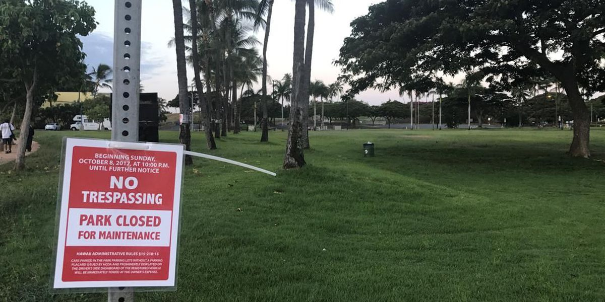 As Kakaako parks re-open, governor pledges tougher enforcement efforts