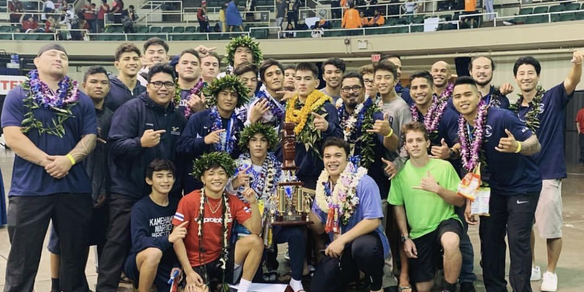 Kamehameha wins boys and girls wrestling team state titles