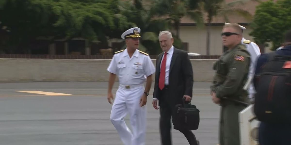 Defense Secretary Mattis arrives in Honolulu for change at U.S. Pacific Command