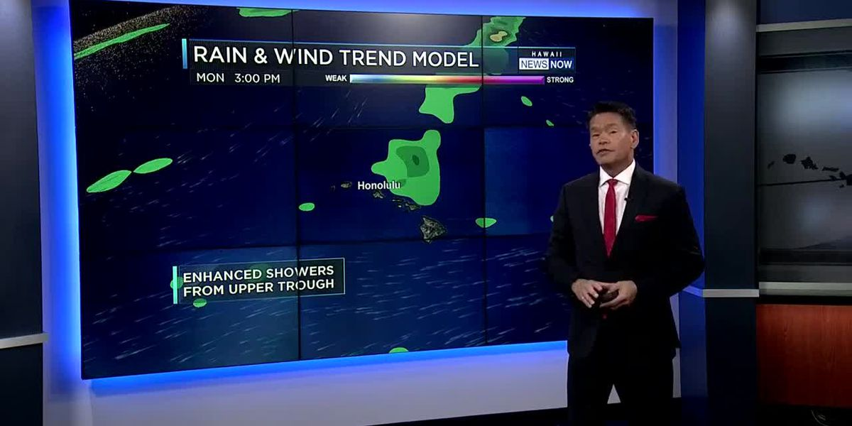 Forecast: Lighter winds, increasing showers ahead
