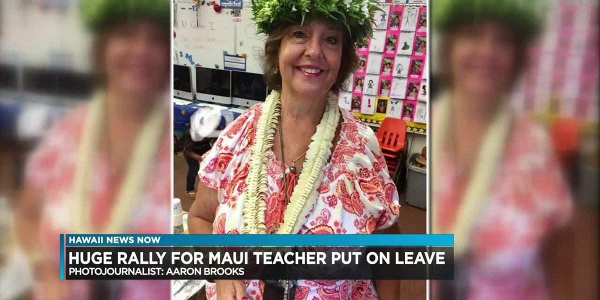 Maui community rallies around a long-time Haiku teacher put on leave by the DOE