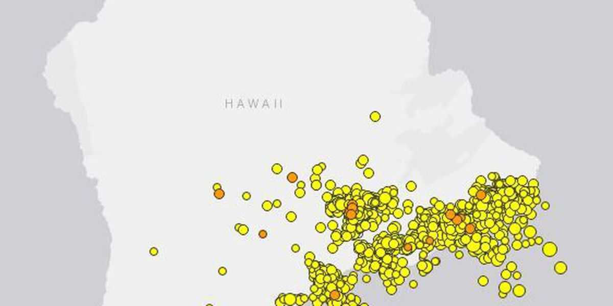 The shaking continues: Over 1,000 earthquakes rattle Big Island
