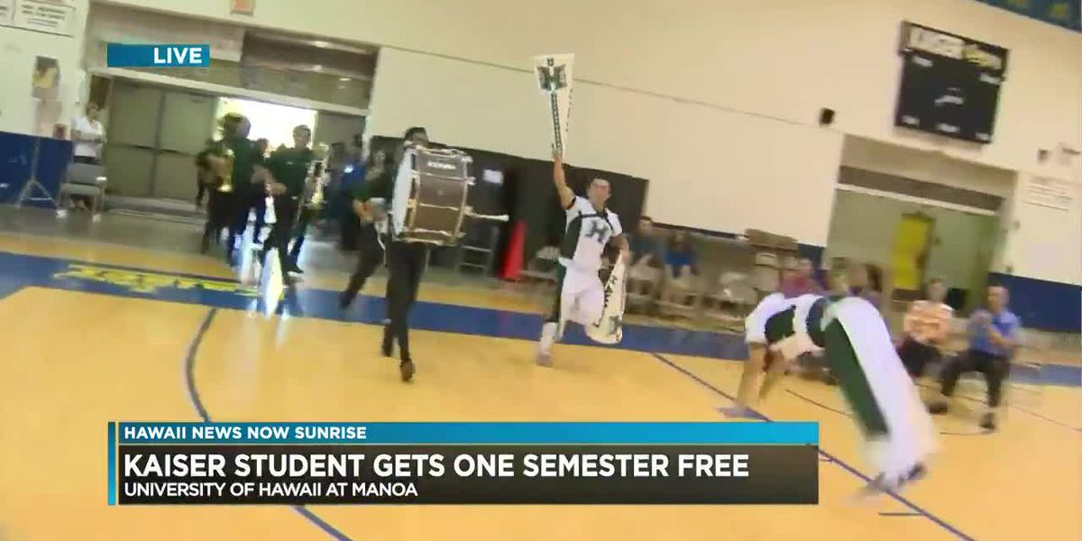 Kaiser student wins Hawaii News Now contest for a free semester of college