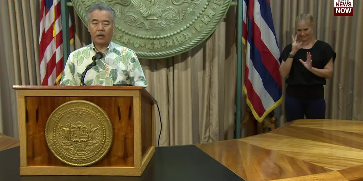 Governor Ige says they are monitoring the amount of coronavirus cases other states are seeing